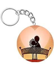 Fall In Love | ShopTwiz Printed Circle Key Ring