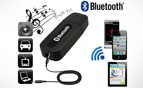 Everything Imported Bluetooth Stereo Adapter Audio Receiver 3.5Mm Music Wireless Hifi Dongle Transmitter Usb Mp3 Speaker Car (Random Color)