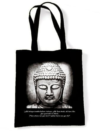 Buddha Vegetarian Quote Shopping / Shoulder Bag
