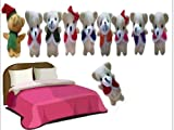 Homgaty 10 Pcs Bear Ten in The Bed Animals Finger Puppets Story Telling Nursery Fairy Tale The Perfect Birthday, Christmas Gift