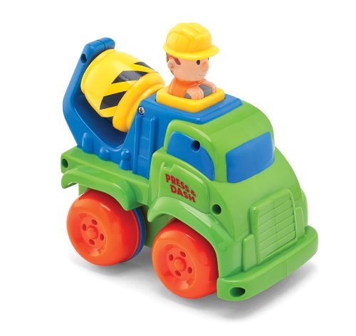 Kidoozie Cement Mixer Push 'n Zoom Vehicle - 1