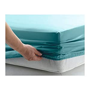 Ikea Gaspa QUEEN Fitted Sheet Turquoise