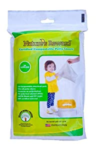 Nature's Reward Toddler Potty Chair Liners, Eco-Friendly, Fits Most Potty Chairs: Standard Pack - 30 Liners
