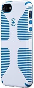 Speck Products CandyShell Grip Case for iPhone 5 & 5S - Retail Packaging - White/Harbor Blue