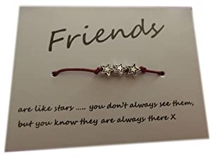 A Bit Krafty Friendship Wish Bracelet, party favour - 3 Little Stars - Friends are like stars.. - 1
