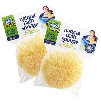Baby Buddy's Natural Baby Bath Sponge 2 Pack 4-5