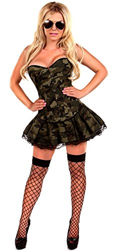 Daisy Corsets 3 PC Sexy Army Girl Sexy Women's Costume