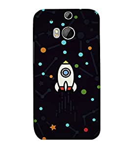 printtech Rocket Dots Design Back Case Cover for HTC One M9::HTC M9::HTC One Hima