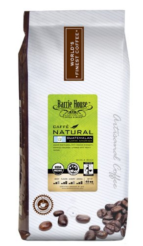 Barrie House Coffee Fair Trade Organic SMBC Caffé Natural Guatemalan Whole Bean 2.5 Lb Bag