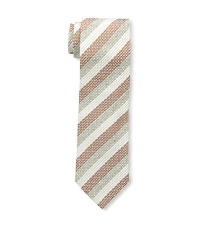 Borrelli Men's Striped Tie, Brown