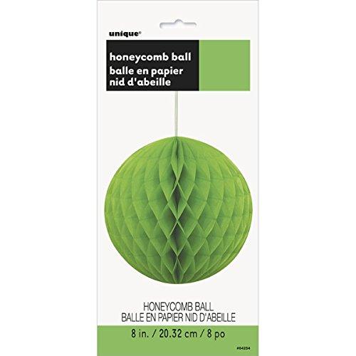 "Honeycomb Ball 8""-Lime Green - 1"