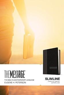 The Message Slimline lthrlok charcoal diamond