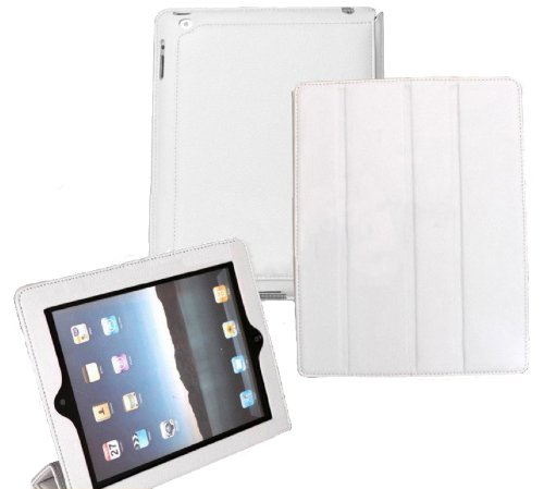 Incelux Leather Smart Case for Apple Ipad 2 16gb, 32gb, 64gb, Wifi&3g, White