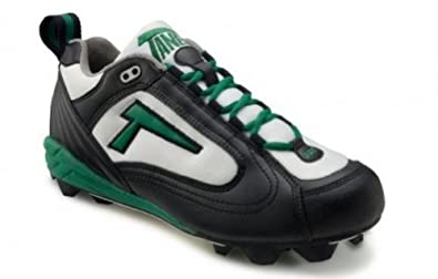 Buy Tanel 360° RPM Lite Low Cut Ladies Fastpitch Softball Cleat, Black White & Green. Medium... by Tanel 360
