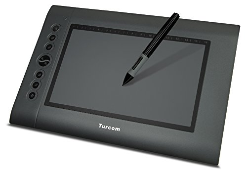Turcom TS-6610 Graphic Tablet Drawing Tablets and Pen/Stylus for PC Mac Computer, 10 x 6.25 Inches Surface Area 2048 Levels of Pressure Sensitive Surface with 8 Hot Keys, 4000 LPI Resolution, Ideal for Kids and Artists (Graphic Drawing Tablet For Mac compare prices)