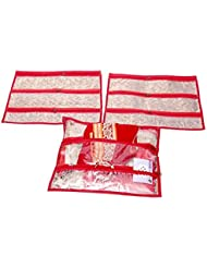 Kuber Industries Multi Purpose Kit, Saree Cover, Utility Bag, Blouse Cover (Set Of 3 Pcs)