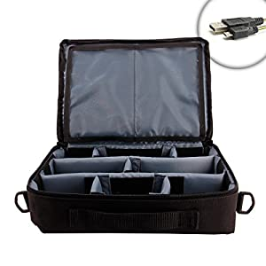 ProPACK Ghost Hunting Night Accessory Bag with Adjustable Dividers for Equipment - Works With EMF Readers , Spirit Boxes , Voice Recorders , Motion Sensors , EVP Listeners and More