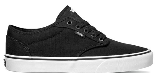 Get Vans Atwood Black-White Mens Canvas Skate Shoes at sk8pros - all ... 6e2d918c8
