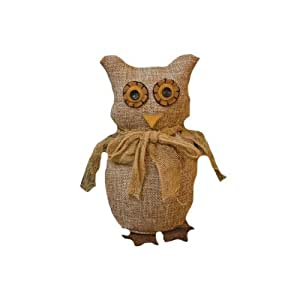 buy cwi gifts burlap owl figure 7 by 4inch online at low