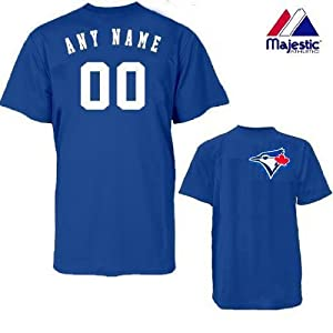 Toronto Blue Jays Personalized Custom (Add Name & Number) 100% Cotton T-Shirt... by Authentic Sports Shop