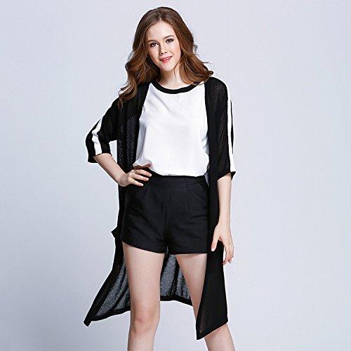 GA&GA Ladies maglia Cardigan/aria condizionata in europea sottile stile Cardigan lungo , black , one-size