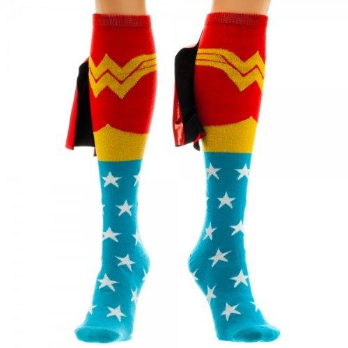 DC Comics Wonder Woman Shiny Cape Knee High Calze