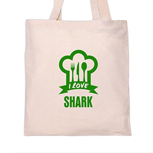 I LOVE SHARK Food Drink Vegetable Tote Bag