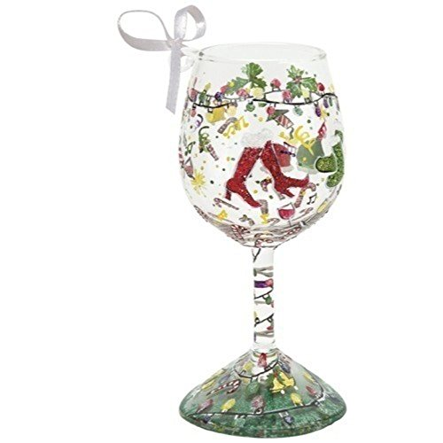 Lolita Holiday Party Mini Wine Glass Christmas Ornament