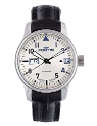Fortis Men's 700.20.92 LC.01 F-43 Flieger Beige Automatic Black Leather Date Watch