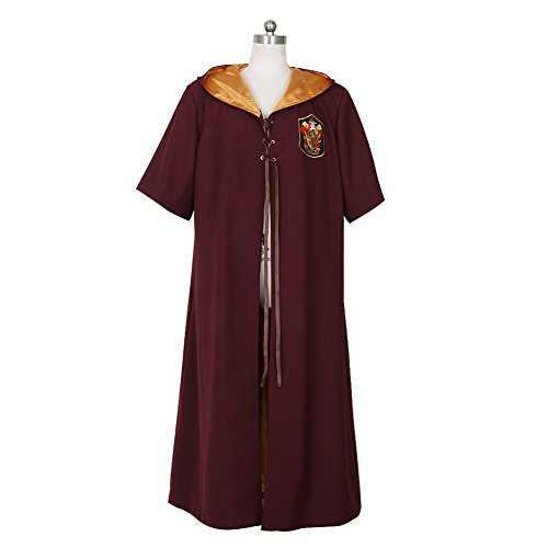 CG Costume Men's Harry Potter Gryffindor Quidditch Magic Robe Cloak Costume Cosplay