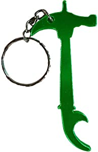 hammer keyring novelty keychain bottle opener green key tags and chains. Black Bedroom Furniture Sets. Home Design Ideas