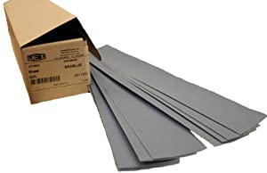 "Uneeda M-143859 EKABLUE Blue 2-3/4"" x 17-1/2"" 80 Grit Plain Aluminum Oxide Paper File Board Sheet, (Pack of 100) at Sears.com"