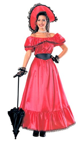 Adult Scarlet Costume - Southern Belle Costume Dress (Parasol not included)