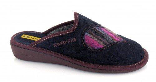 NORDIKAS, Pantofole donna Blu Azul marino