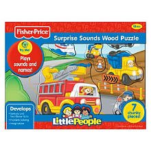 Fisher Price Little People Zoo Animals Sounds Wood Puzzle 7 pcs (Fisher Price Little People Puzzle compare prices)