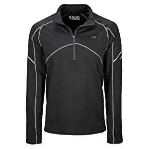 New Balance Herren Shirt NBx 1/2 Zip, black, L, MRT2304BK