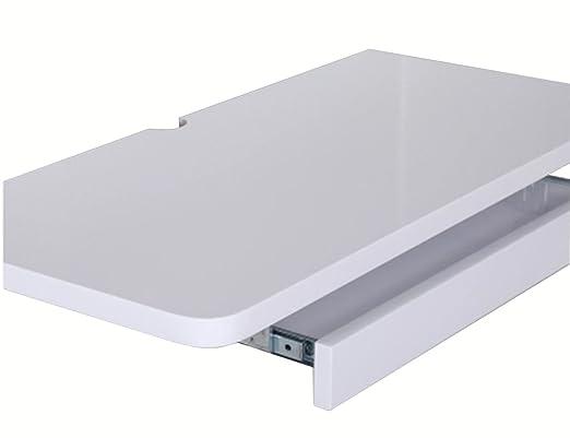 HWF Table murale rabattable en bois Table de bureau Table murale Ordinateur Bureau Ordinateur portable Bureau Bureau de travail Panneau en bois ( Couleur : Blanc , taille : 80cm )