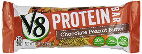 V8 Protein Bars, Chocolate Peanut Butter, 1.76 Ounce, 6 Count Food ...
