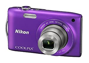 Nikon COOLPIX S3300 Compact Digital Camera - Purple (16MP, 6x Optical Zoom) 2.7 inch LCD