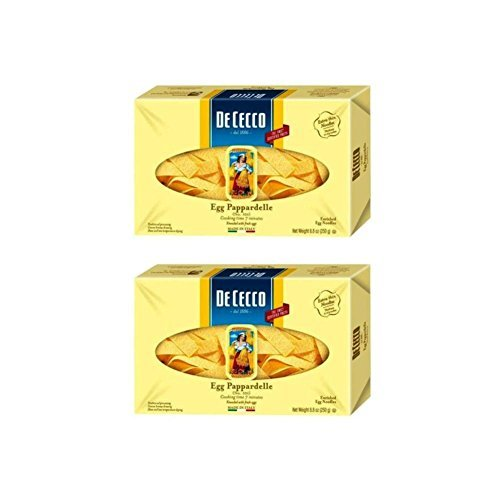 De Cecco Egg Pappardelle Enriched Egg Noodles, 8.8oz(250g) (Pack of 2) (De Cecco Egg Pasta compare prices)