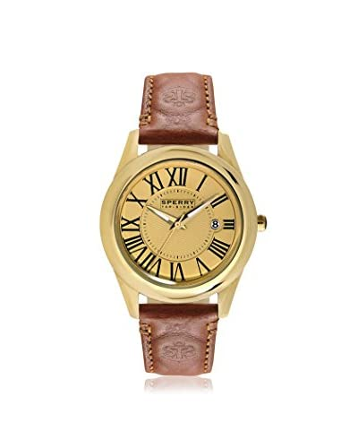 Sperry Men's 103271 Top-Sider Brown/Gold Stainless Steel Watch