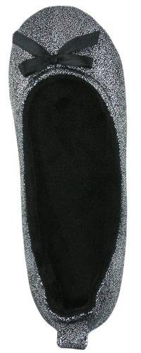 Cheap Capelli New York Metallic Foil Flakes Faux Suede Ballet Ladies Slipper (B004962AOA)