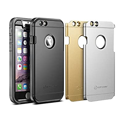 Trentium iPhone 6s Plus Cases Gold Silver Black Screen Protector