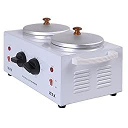 Super buy Electric Double Pot Wax Warmer Heater Professional Dual Pro Salon Hot Paraffin by Super buy