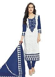 RK Fashion Womens Cotton Un-Stitched Salwar Suit Dupatta Material ( Rajguru-Ganpati-5008-Blue-Free Size )