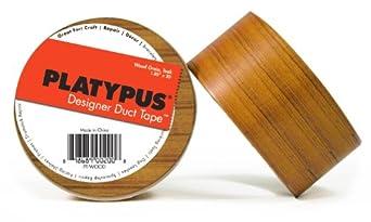 "Fortis Design PT-WOOD1 Platypus Wood Print Designer Duct Tape, 32' Length x 2"" Width"