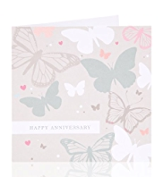 Butterfly Happy Anniversary Greetings Card