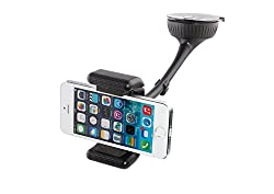 Callmate BT8112 Car Holder with Bluetooth and Speaker for Smartphone - Black