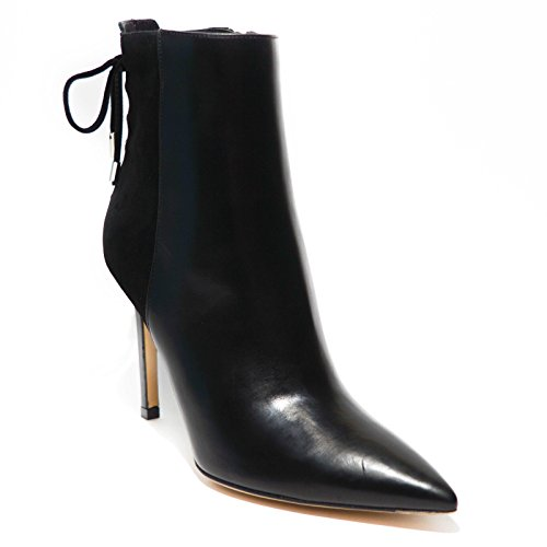 Roberto Festa Milano Stivaletto donna pelle nero tacco made in italy art.10097 39