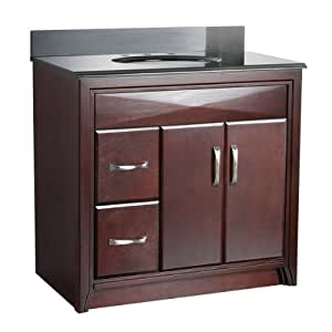 Foremost Cala3621dl Cavett 36 Inch Bath Vanity With Left Side Drawers Vanity Sinks